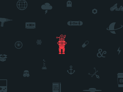 Icons, icons everywhere! icons forbidden robot tape akira coffee altar4 lasergun anchor science alva snowflake notthedroidswearelookingfor hall9000 altaïr4