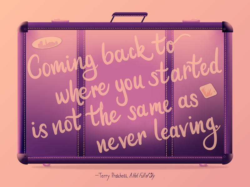 """""""Coming back to where you started..."""" freeform gradient literature vector adobe illustrator cc 2019 passion project illustrator"""