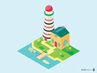 Isometric Lighthouse at the Shore