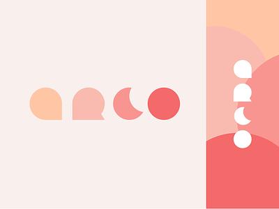 Logo Challenge - Arco Jewelry pink clean minimal minimal logos a letter logo minimal logo orange logo moon logo a letter a logo flat logos flat logo pink logo