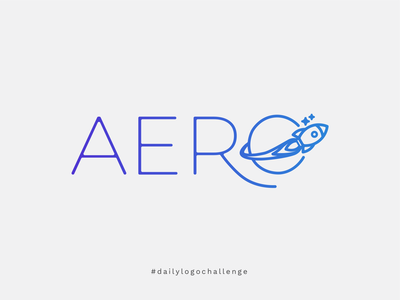 Daily Logo Challenge - Rocket Ship Logo rocketship dailylogodesign space logo gradientlogo logochallenge dailylogochallenge aerolite aero logo rocket logo rocketship logo