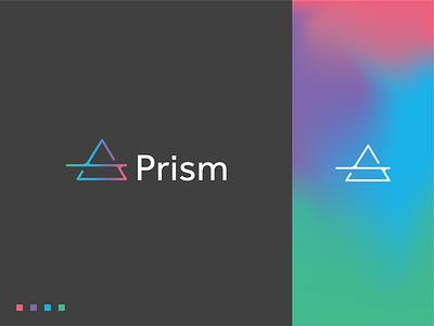Prism Logo prism black modern logos clean modern logo gradient logo triangle green logo gradient triangle logo