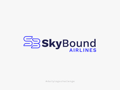 Daily Logo Challenge - Airline Logo simple logo simple logo new logo challenge dailylogochallenge airline blue logo blue clean airplane logo airplane b logo letter logos letter logo daily logo challenge airline brand airline logo
