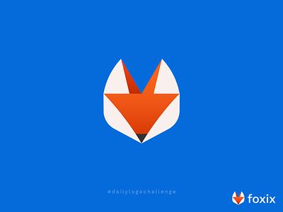 Daily Logo Challenge - Fox Logo new logo new orange logo blue logo animal logos animal logo abstract logo geometric logo clean fox icon fox brand fox fox face fox logo