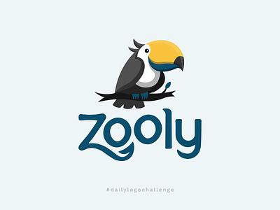 """Daily Logo Challenge - Animal Logo """"Zooly"""" blue zoo zoo logo vector bird icon clean bird bird logo animal nature jungle jungle logo nature logo z logo blue logo toucan logo toucan logo logo challenge daily logo challenge"""