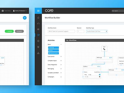 Daily UI #08 - Workflow Builder clean blue software builder workflow ux ui dashboard design