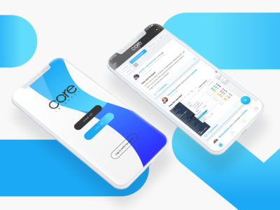 Daily UI #16 - Core Interact Login and Home Screens