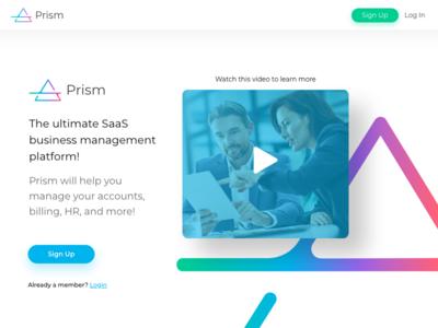 Prism Sign Up/Login Screen