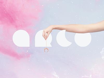 Arco Jewelry pink purple logo website brand jewelry logo design