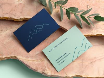 McKeil Mahoney Massage Business Cards