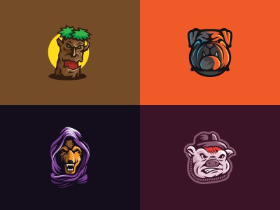 Best Logo Inspiration Dribbble vector logo esport logo wolf logo pig logo fox logo gamer logo bulldog logo tree logo