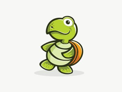 Turtle Logo game kids mascot cartoon logo turtle