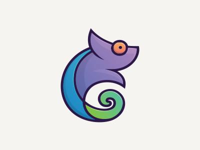 Chameleon Color media color cartoon logo chameleon