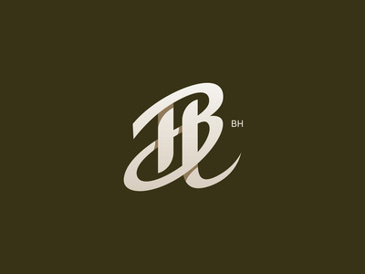 Bh initial typo type letter hb bh