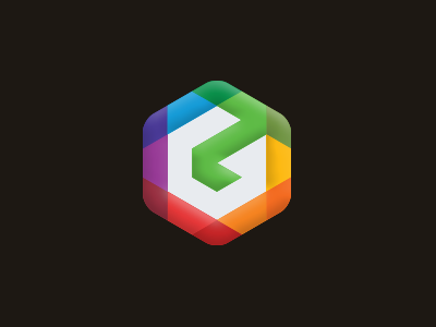 Gearad multimedia media lowpoly g logo dynamic digital cube consulting colorful color box
