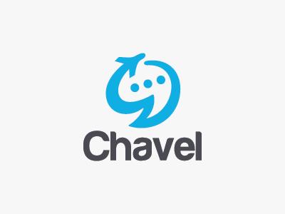 Travel Chat Logo quote cloud sky jet planes travel talk social communication chat