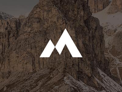 M Logo logo bold simple adventure mountain m logo