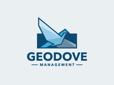 Bird Management Logo logotype logo investment geometric financial finance entertainment eagle dove