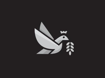 Royal Bird Logo royal princes pigeon luxury king heraldry gold dove crown crest bird