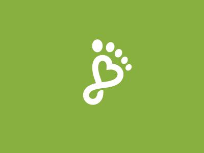 Feet Love Logo love logo leg heart healthy health foot feet clinic care beauty acupuncture