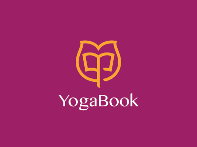 Yoga Book Logo healthy tulip green yoga college university school library book
