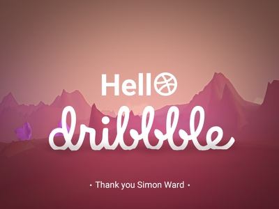 Hello Dribbble! 3d c4d first shot environment rocks new space pink