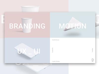My Upcoming Portfolio:) website ui ux motion branding portfolio