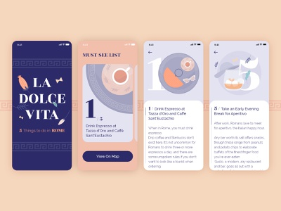 5 things to do in ROME- Adobe XD Playoff rome ui design product design illustration