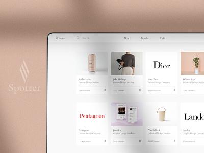 Spotter - design internships marketplace website design ux ui product design marketplace logo branding design