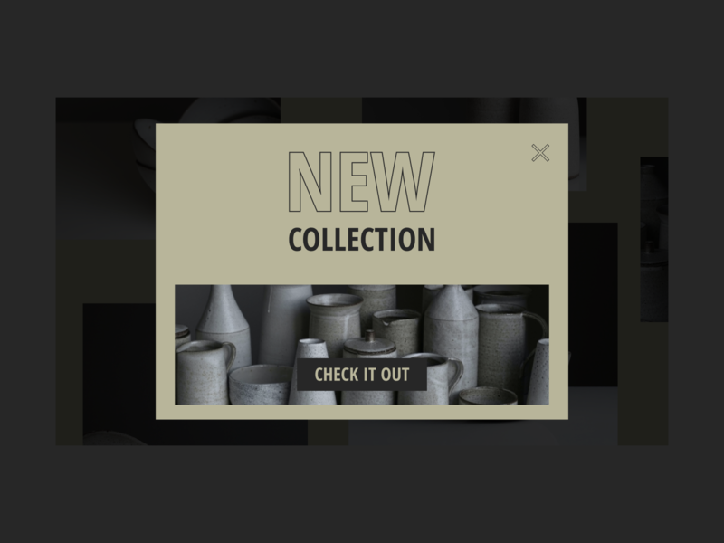 Pop up new collection collection popup ui minimal ui  ux ux ui  ux design design