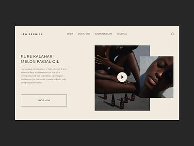 homepage ecommerce ui page ui  ux minimal ux ui  ux design design
