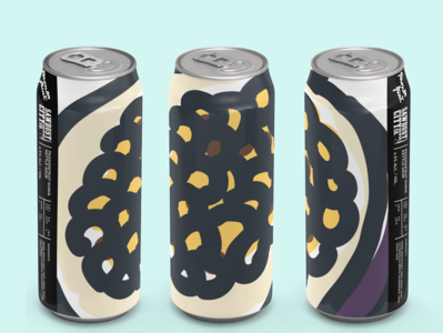 Sawdust Brewery, Passion Fruit on can funky beer label beer art beer can type illustraion branding