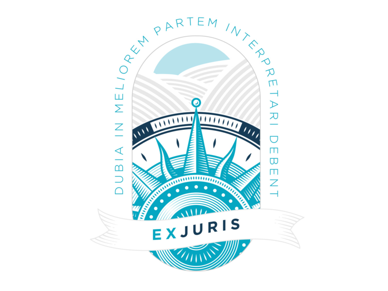 EXJURIS Branding branding logo typography illustration design
