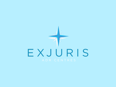 EXJURIS, North Star logo illustraion brand design branding design