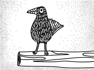Crow doodle illustrator design illustraion