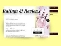 Ratings and Reviews UI