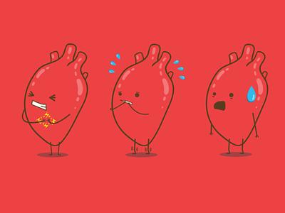 Heart of Gold Character Concepts design vector hospital vector art illustration branding