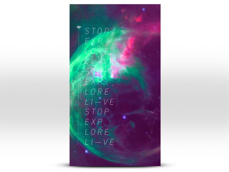 Adidas Alt Space Concept typography design branding