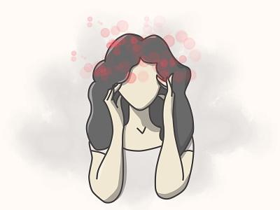 Pulsing headache woman pain headache