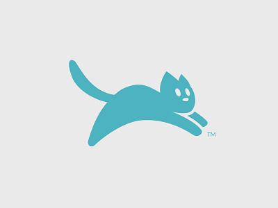 Pouncing Cat Logo pounce minimal logomark abstract logo veterinarian cat