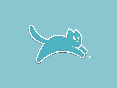 T.H.E. Cat Hospital Logo (Sticker) sticker pounce minimal logomark abstract logo veterinarian cat