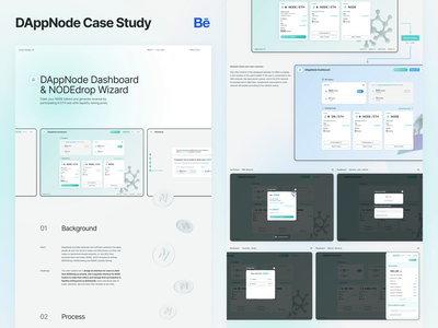 DAppNode Case Study - Behance wizard crypto case study behance dashboard ethereum design web ui