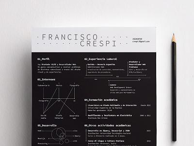Printed Resume pdf resume white and black cv vitae curriculum