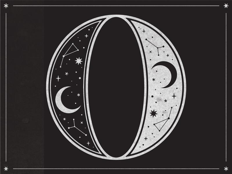 Zero Gravity texture vector handlettering typogaphy 0 o 36 days of type cosmic sun zodiac graphicdesign black  white black stars constellations moon gravity zero