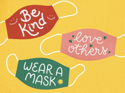 Wear A Mask texture vector illustration others kind protect virus sick 2020 safety public love kindess health corona coronavirus covid-19 covid 19 covid19 mask