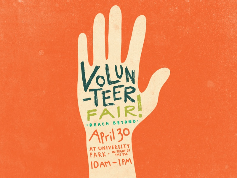 volunteer fair campaign  poster by tyler stewart