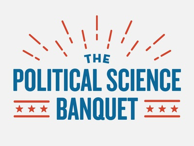 Political Science Banquet Branding adobe illustrator banquet dinner campaign simple science political politics vector branding design logo typography type