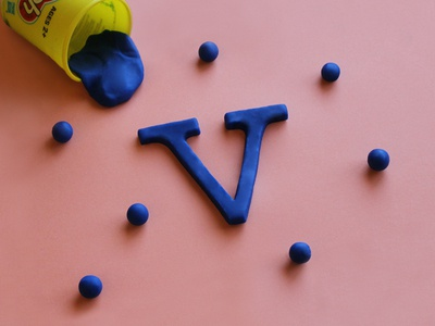 V Playdoh — 36 Days of Type tactline lettering handlettering clay sculpt playdoh 36days-v 36dayoftype typography type 36 days of type