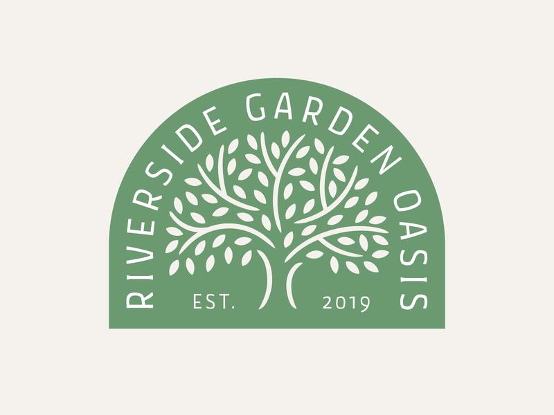 Garden Society Logo badge icon vector illustration society probono nonprofit green tree garden logo branding