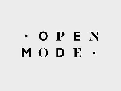 Open Mode logo branding brand fashion serif stencil stencil sans serif logotype typography